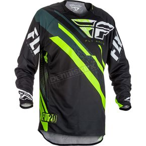 Fly Racing Black/Hi-Vis Evolution 2.0 Jersey - 371-220M