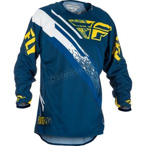 Fly Racing Navy/Yellow/White Evolution 2.0 Jersey - 371-221X