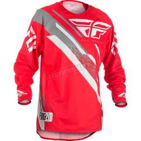 Fly Racing Red/White/Grey Evolution 2.0 Jersey - 371-222S