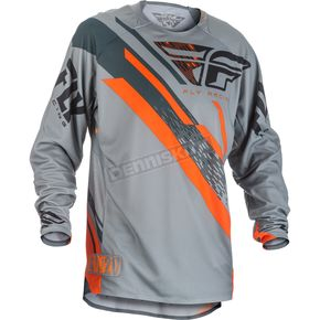 Fly Racing Gray/Orange/Black Evolution 2.0 Jersey - 371-228S