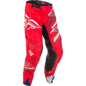Fly Racing Red/White/Gray Evolution 2.0 Pants - 371-23228