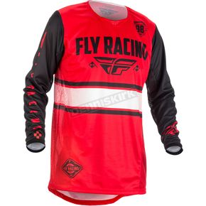 Fly Racing Youth Red/Black Kinetic Era Jersey - 371-422YX