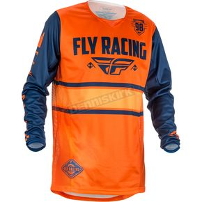 Fly Racing Youth Orange/Navy Kinetic Era Jersey - 371-428YM
