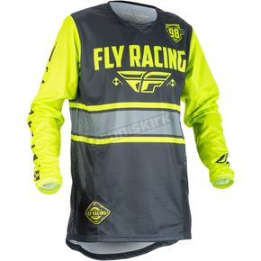 Fly Racing Gray/Hi-Vis Kinetic Era Jersey - 371-429M