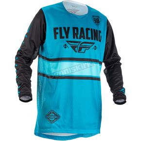 Fly Racing Youth Blue/Black Kinetic Era Jersey - 371-421YM