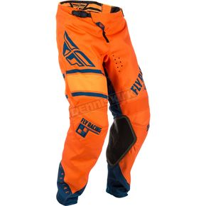 Fly Racing Youth Orange/Navy Kinetic Era Pants - 371-43824