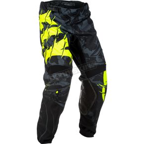Fly Racing Youth Black/Hi-Vis Kinetic Outlaw Pants - 371-53020