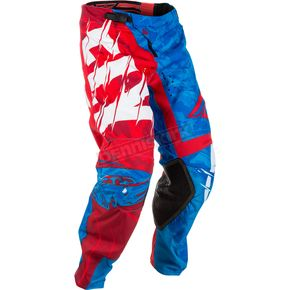 Fly Racing Red/Blue Kinetic Outlaw Pants - 371-53232