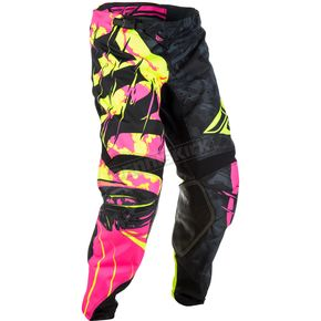 Fly Racing Black/Neon Pink/Hi-Vis Kinetic Outlaw Pants - 371-53936