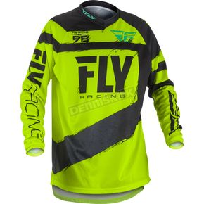 Fly Racing Youth Black/Hi-Vis F-16 Jersey - 371-929YS