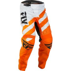 Fly Racing Youth Orange/White F-16 Pants - 371-93824
