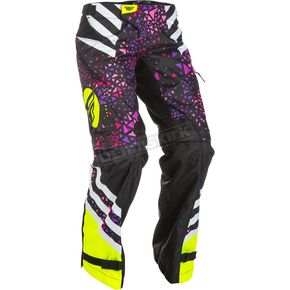 Fly Racing Women's Neon Pink/Hi-Vis Kinetic Over the Boot Pants - 371-65911