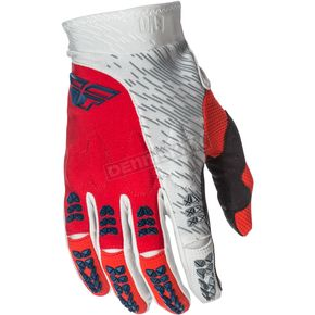 Fly Racing Red/Gray Evolution 2.0 Gloves - 371-11210