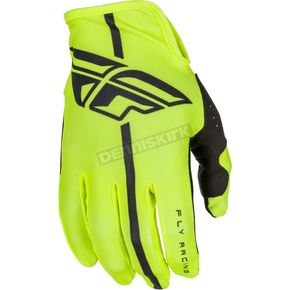 Fly Racing Hi-Vis/Black Lite Gloves - 371-01008