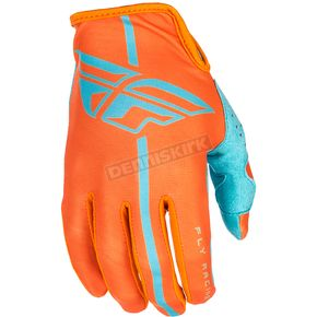 Fly Racing Orange/Blue Lite Gloves - 371-01810