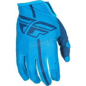 Fly Racing Blue Lite Gloves - 371-01110