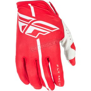 Fly Racing Red/Gray Lite Gloves - 371-01211