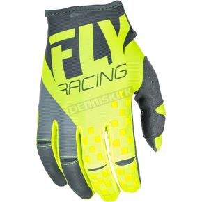 Fly Racing Gray/Hi-Vis Kinetic Gloves - 371-41711