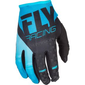 Fly Racing Blue/Black Kinetic Gloves - 371-41108