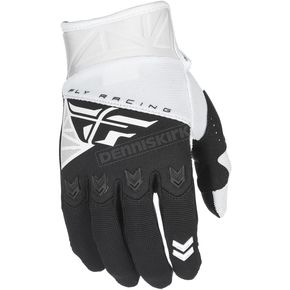 Fly Racing Youth White/Black F-16 Gloves - 371-91404