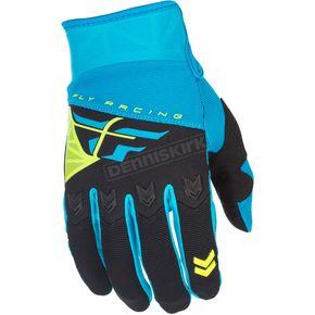 Fly Racing Youth Blue/Black F-16 Gloves - 371-91106
