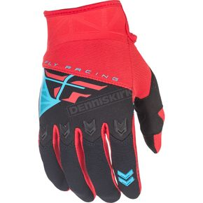 Fly Racing Youth Red/Black F-16 Gloves - 371-91204