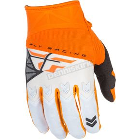 Fly Racing Orange/White F-16 Gloves - 371-91809