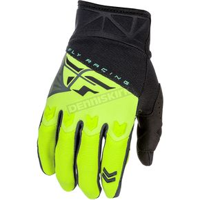 Fly Racing Youth Black/Hi-Vis F-16 Gloves - 371-91903