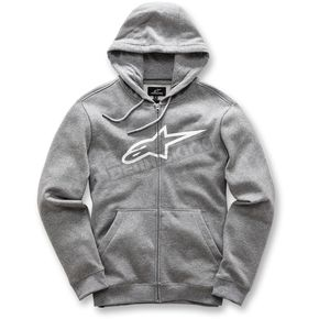 Alpinestars Charcoal Gray Ageless Zip-Up Fleece Hoody - 101753007191XL