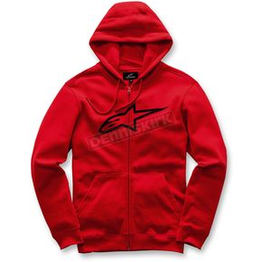 Alpinestars Red Ageless Zip-Up Fleece Hoody - 1017-53007-30XL