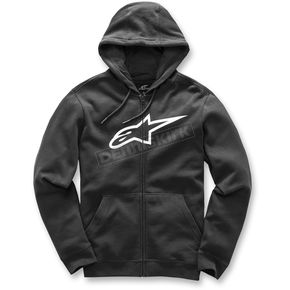 Alpinestars Black Ageless Zip-Up Fleece Hoody - 1017-53007-10XL