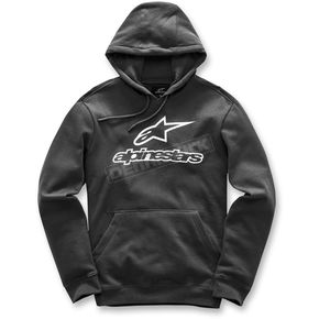 Alpinestars Black Always Pullover Fleece Hoody - 101752610XL