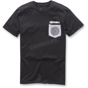 Alpinestars Black Pocket Spiral T-Shirt - 1037-72080-10-L