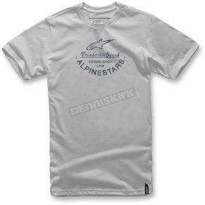 Alpinestars Silver And T-Shirt  - 1037-72026-19-M