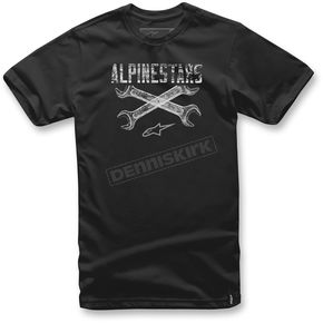 Alpinestars Black Ratchet T-Shirt  - 1037-72062-10-M