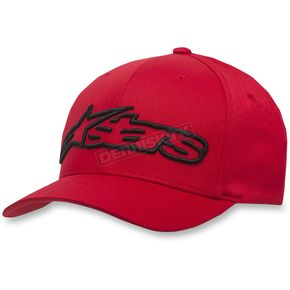 Alpinestars Red/Black Blaze Flexfit Hat - 1039810053010SM