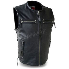 First Manufacturing Co. Brawler Leather Vest - FIM-648-CSL-XL