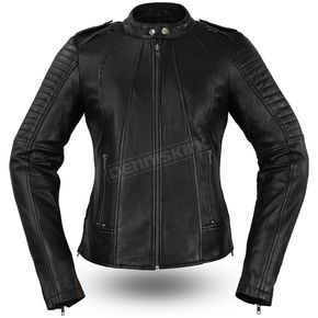 First Manufacturing Co. Women's Biker Leather Jacket - FIL-104-CHMZ-S