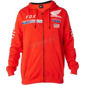 Fox Red Honda HRC USA Zip Hoody - 20819-003-S