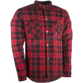 Highway 21 Black/Red Marksman Riding Flannel Shirt - 489-1180X