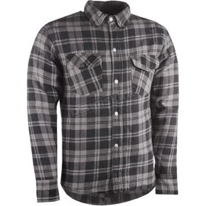 Highway 21 Black/Gray Marksman Riding Flannel Shirt - 489-11813X