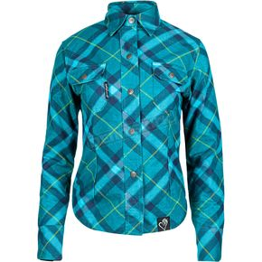 Speed and Strength Women's Teal Cross My Heart Moto Shirt - 884493