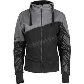 Speed and Strength Women's Black/Gray Cat Out'a Hell 2.0 Armored Hoody - 884441