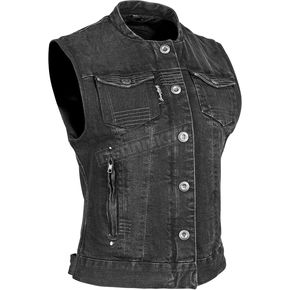 Speed and Strength Women's Black Glory Daze Denim Vest - 884471