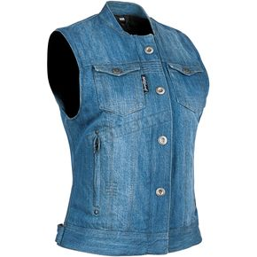 Speed and Strength Women's Blue Glory Daze Denim Vest - 884479