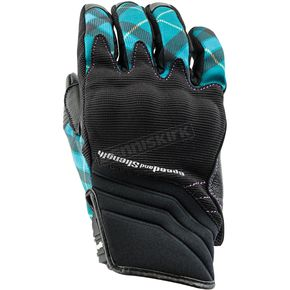 Speed and Strength Women's Teal Cross My Heart Gloves - 884515