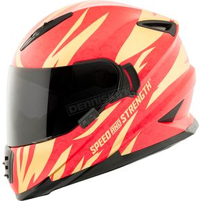 Speed and Strength Gold/Red Cat Out'a Hell 2.0 SS1600 Helmet - 884562