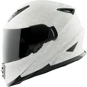 Speed and Strength Silver/White Cat Out'a Hell 2.0 SS1600 Helmet - 884557