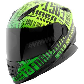 Speed and Strength Green/Black Fast Forward SS1310 Helmet - 884536