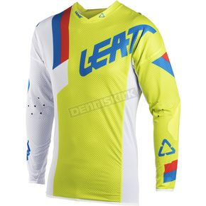 Leatt Lime/White GPX 5.5 Ultraweld Jersey - 5018700141